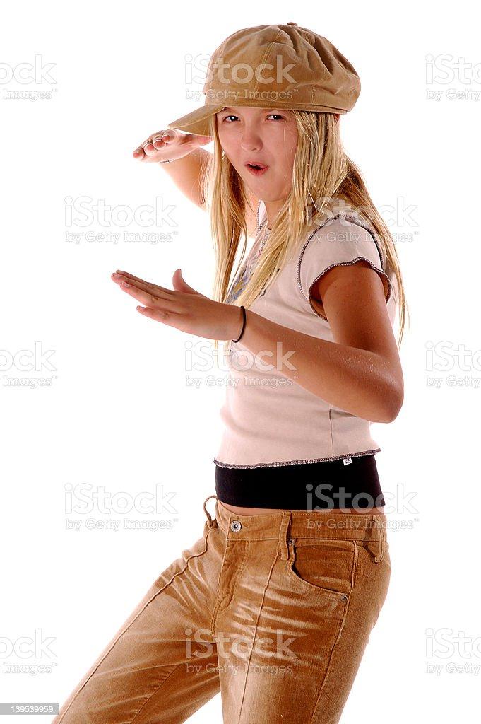 Karate Girl royalty-free stock photo