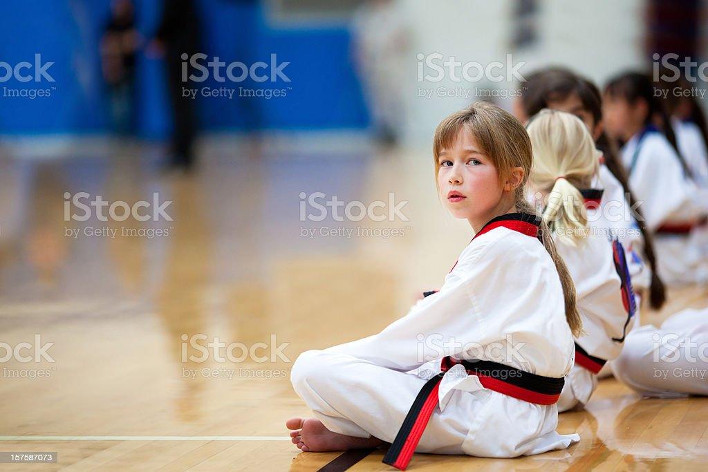 Karate Girls stock photo
