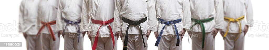 Karate Group stock photo