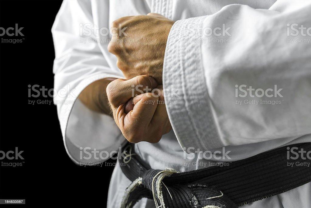 Karate hands stock photo