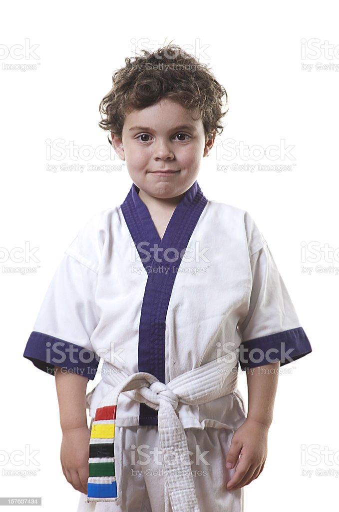 Karate Kid: Attention stock photo