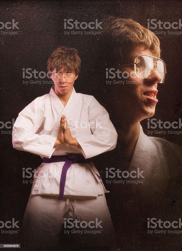 Karate Nerd Glamour Shot stock photo