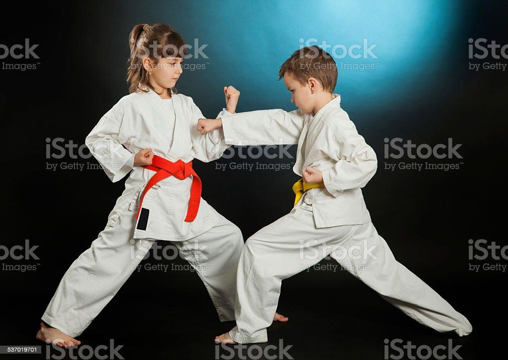 Karate stock photo