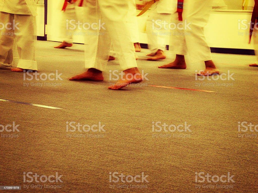 Karate School 2 royalty-free stock photo
