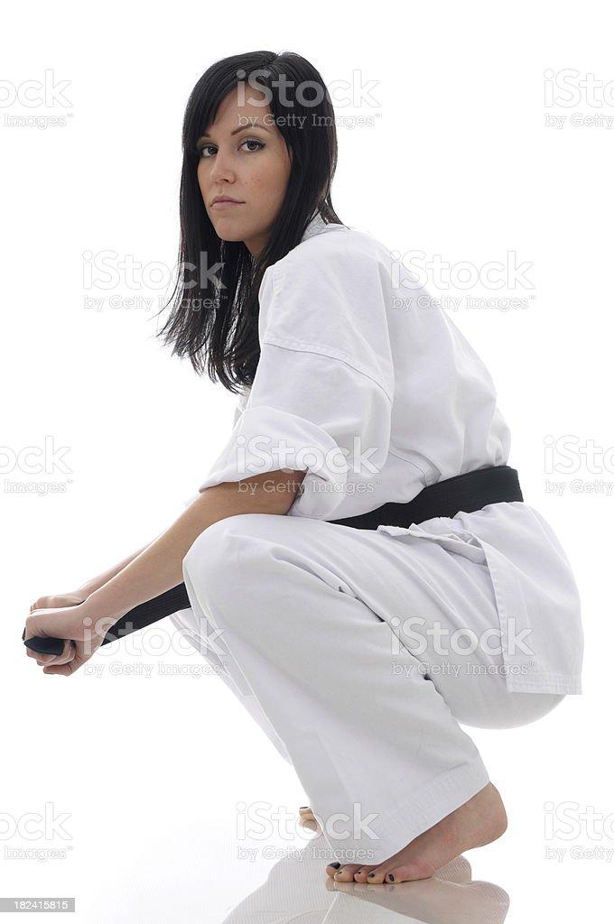 Karate school stock photo