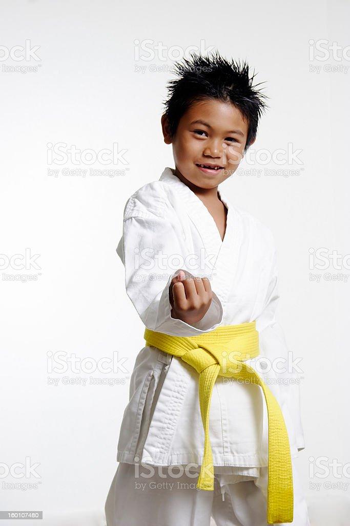 Karate Stance stock photo