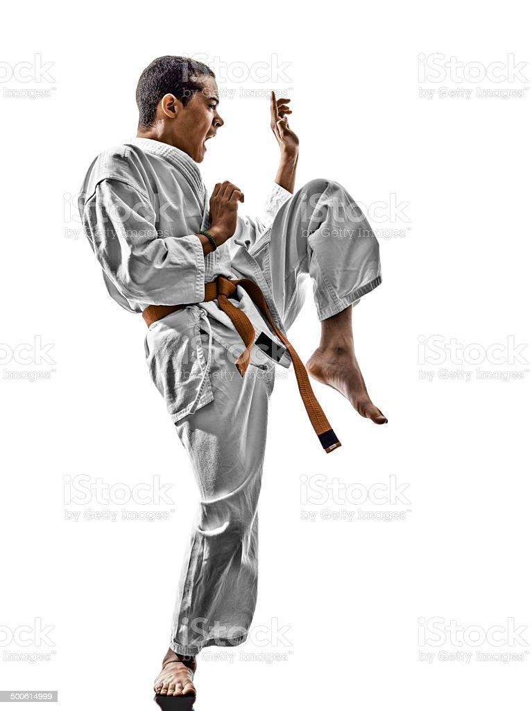 karate teenagers kid stock photo