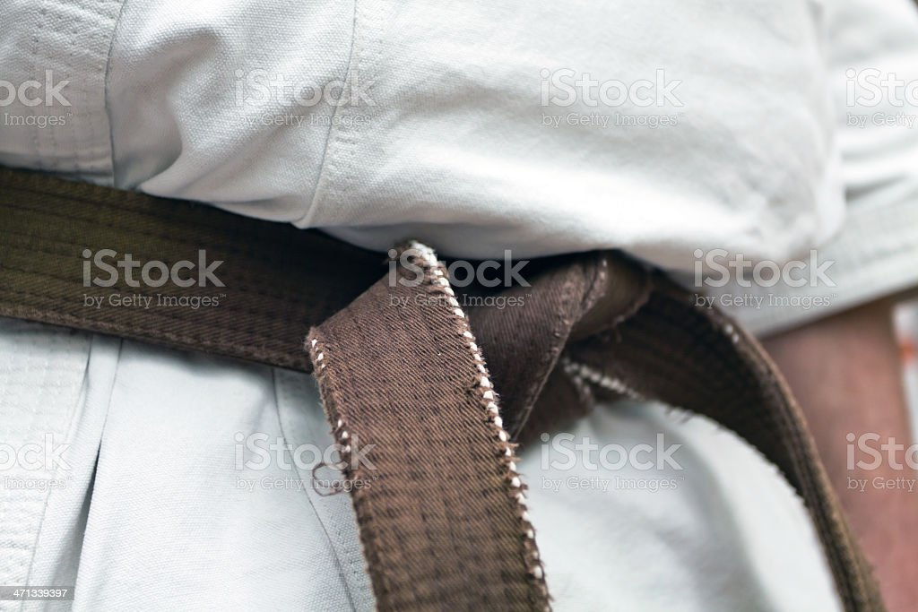 Karate training royalty-free stock photo