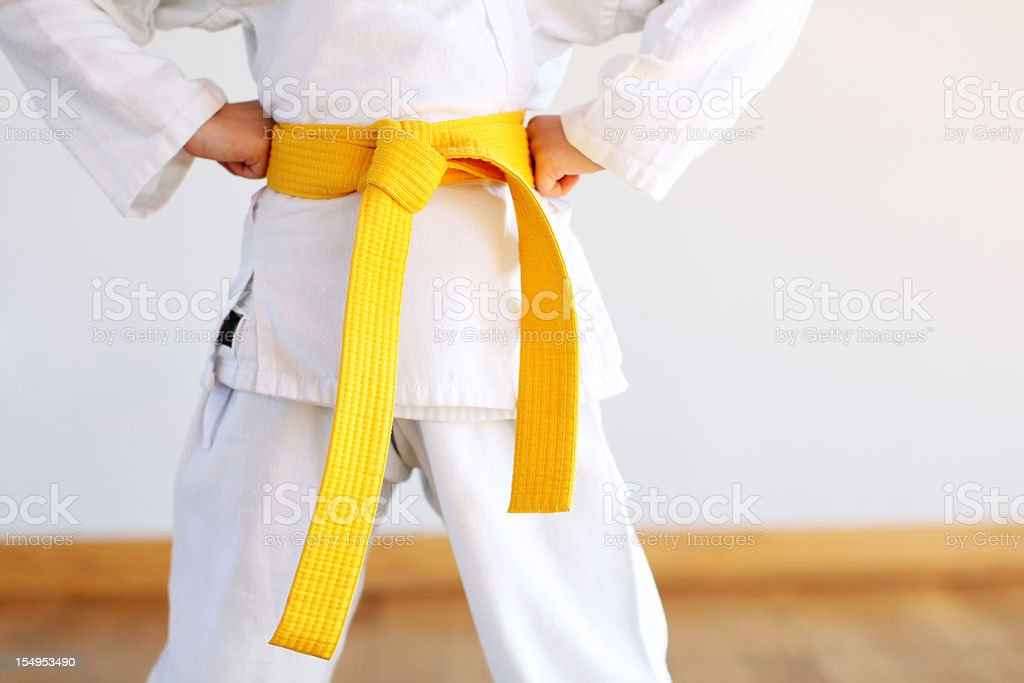 Karate uniform royalty-free stock photo
