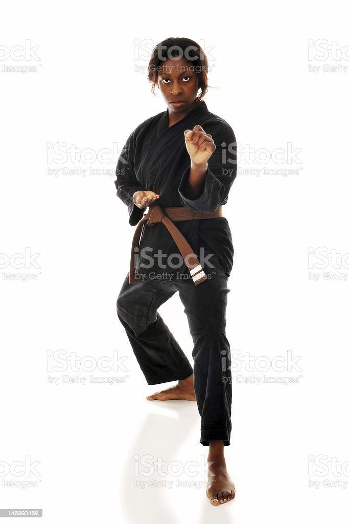 Karate Woman royalty-free stock photo