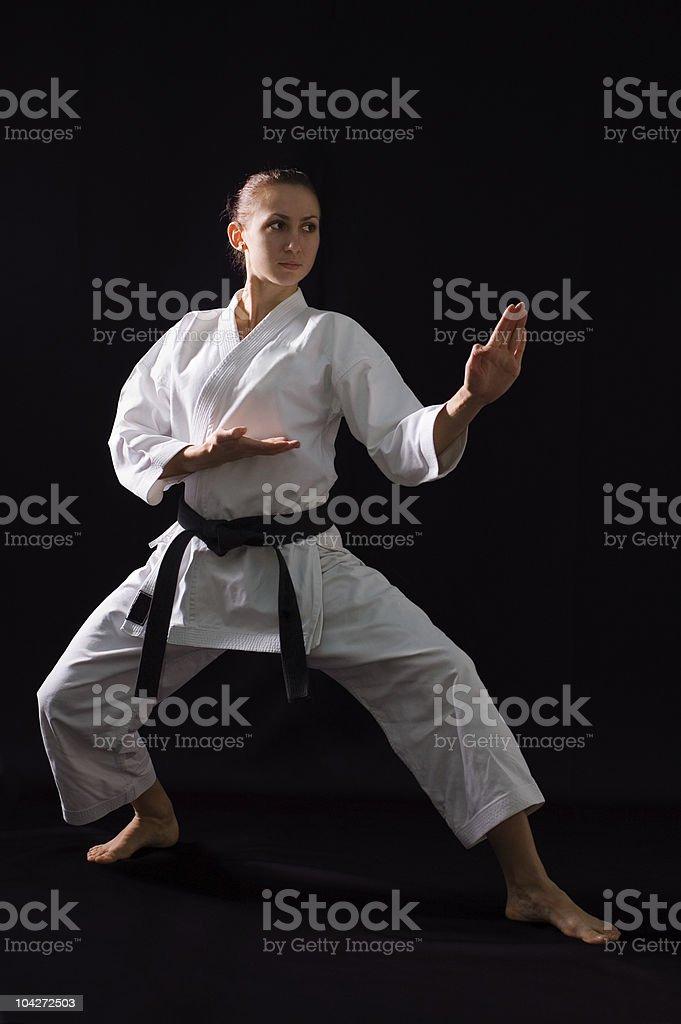 karateka girl royalty-free stock photo