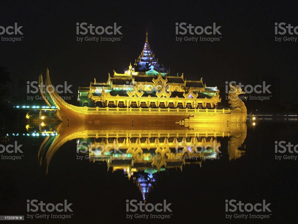 Karaweik Royal Barge royalty-free stock photo