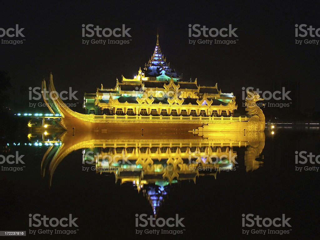 Karaweik Royal Barge stock photo