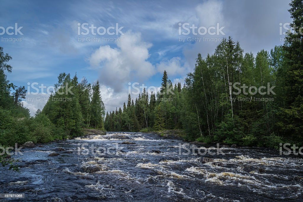 Karelia river stock photo
