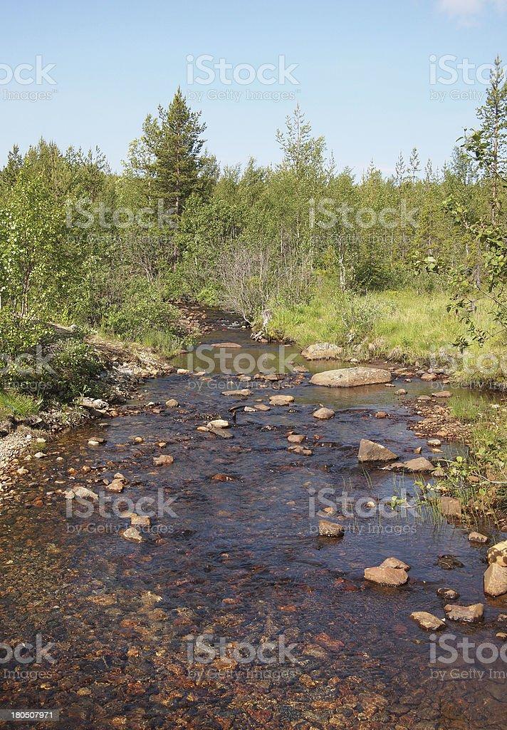 Karelian landscape royalty-free stock photo