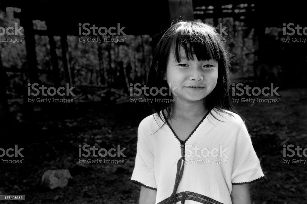 Karen Girl In Traditional Dress stock photo