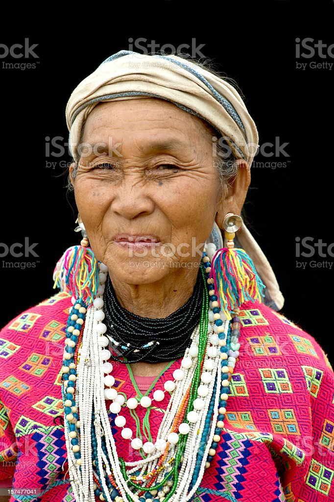 Karen Hill Tribe Woman royalty-free stock photo
