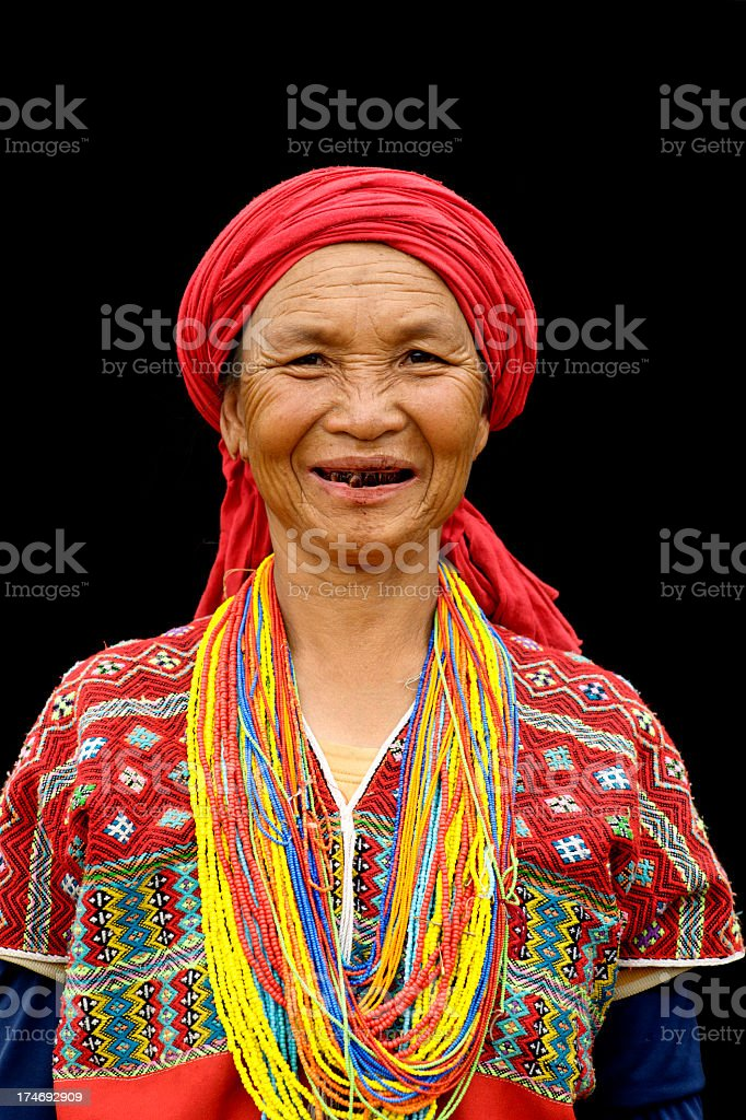Karen Hill Tribe Woman stock photo