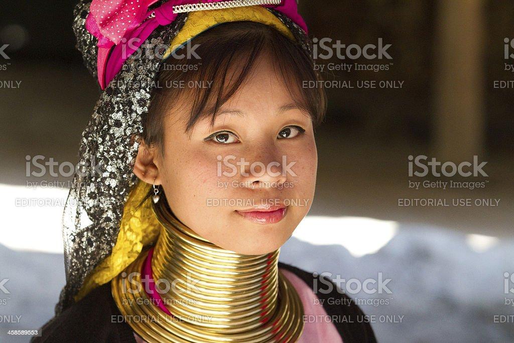 Karen long neck woman stock photo