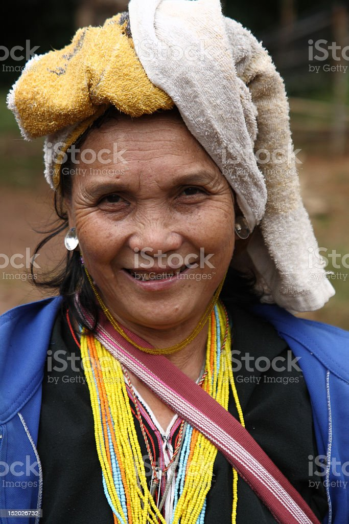Karen smile stock photo