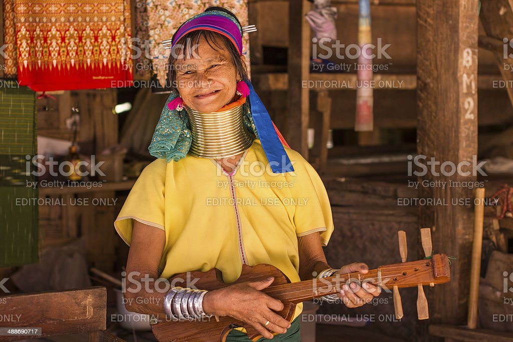 Karen tribe woman from the Padaung tribe stock photo