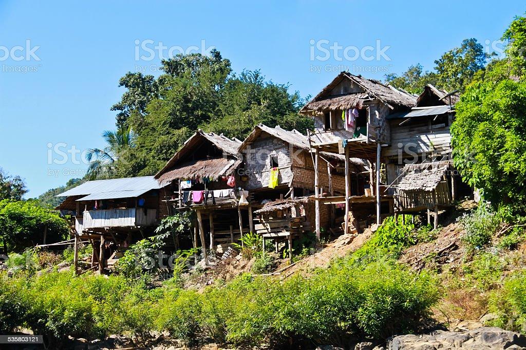 Karen village Soi, Mae Hong Son Province, Thailand stock photo