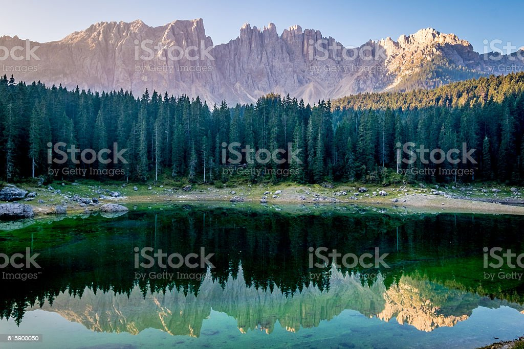 karerlake in italy stock photo