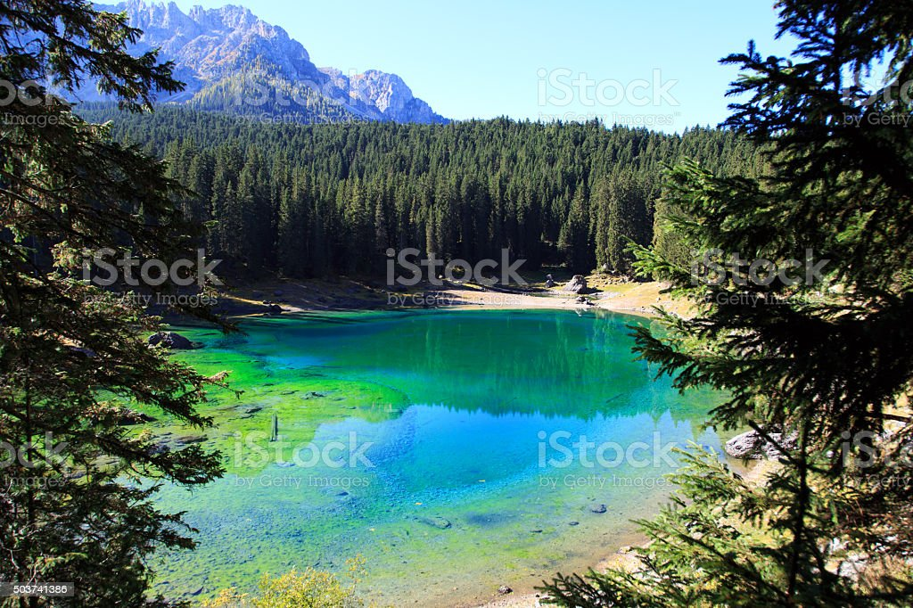 Karersee stock photo