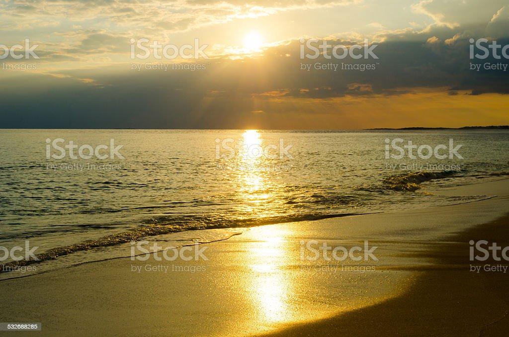 Karibik,Cuba, Cayo Santa Maria, Sunrise stock photo