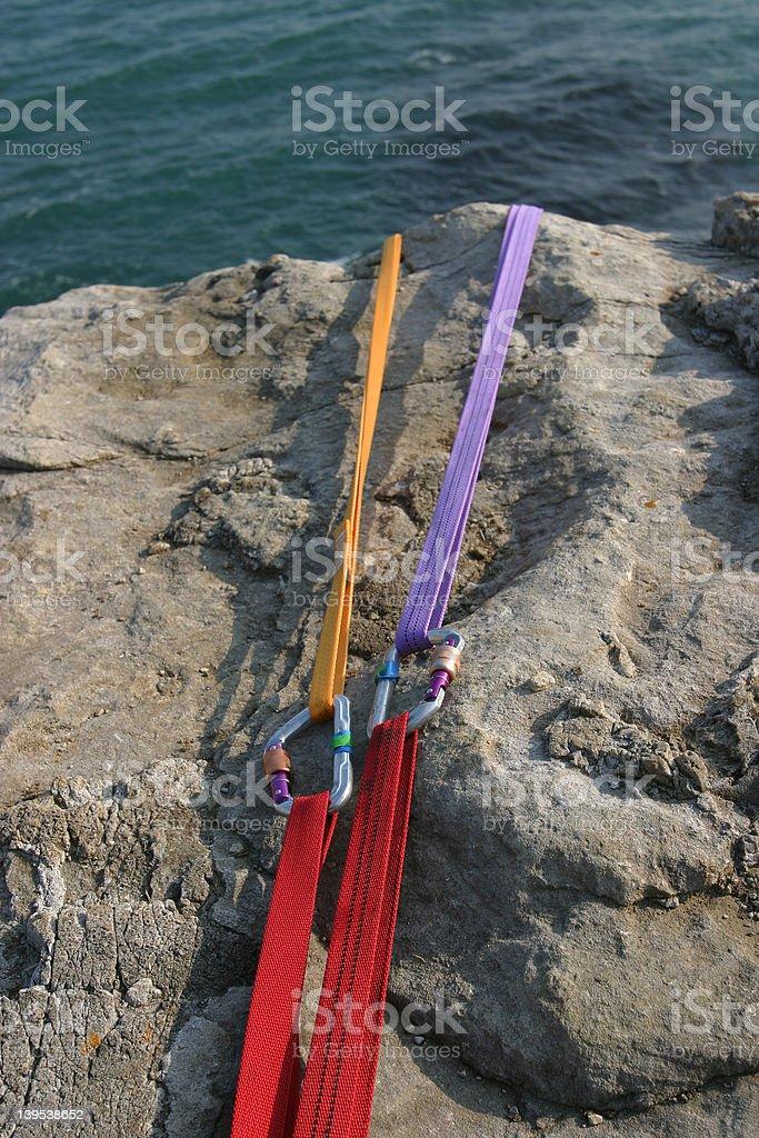 Karibiners & Slings 2 royalty-free stock photo