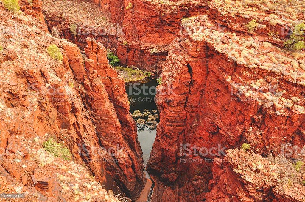 Karijini national park lookout stock photo