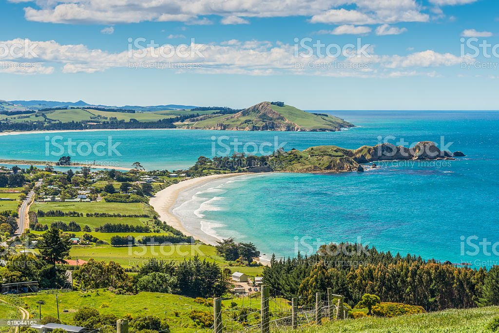 Karitane coastline, Otago, South Island, New Zealand stock photo