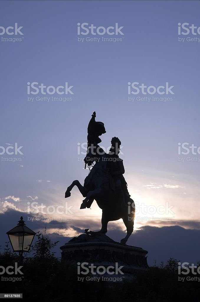 Karl Erzhog monument stock photo