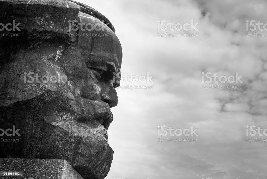 Karl Marx Monument - Chemnitz, Saxony, Germany. stock photo