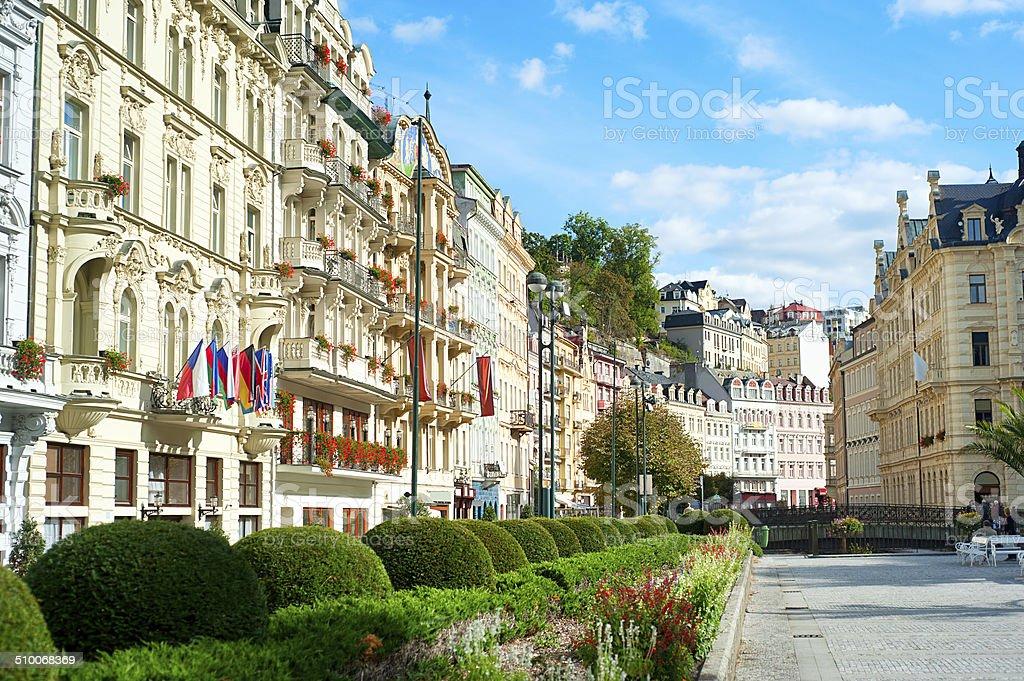 Karlovy Vary architecture stock photo