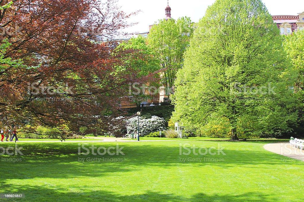 Karlovy Vary gardens royalty-free stock photo