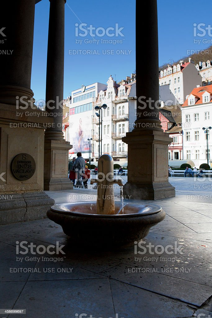 Karlovy Vary hot spring royalty-free stock photo