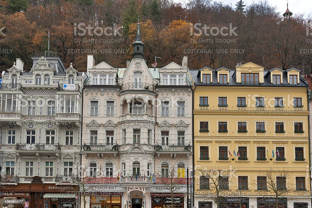 Karlovy Vary residential architecture royalty-free stock photo