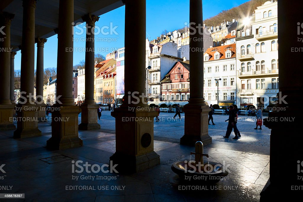 Karlovy Vary town royalty-free stock photo