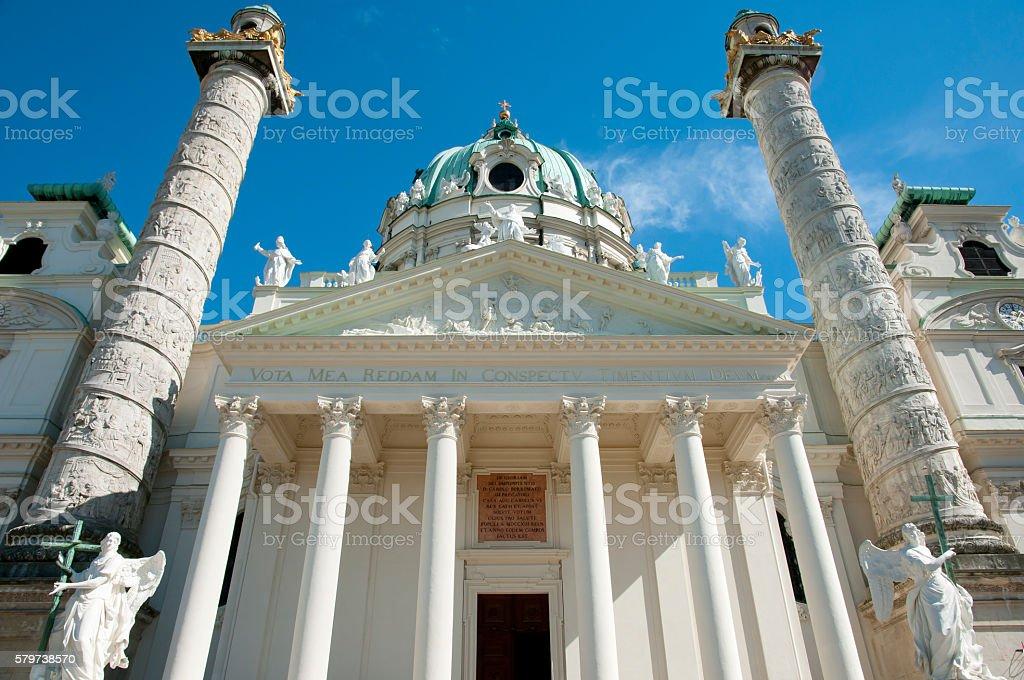 Karlskirche Chuch - Vienna - Austria stock photo