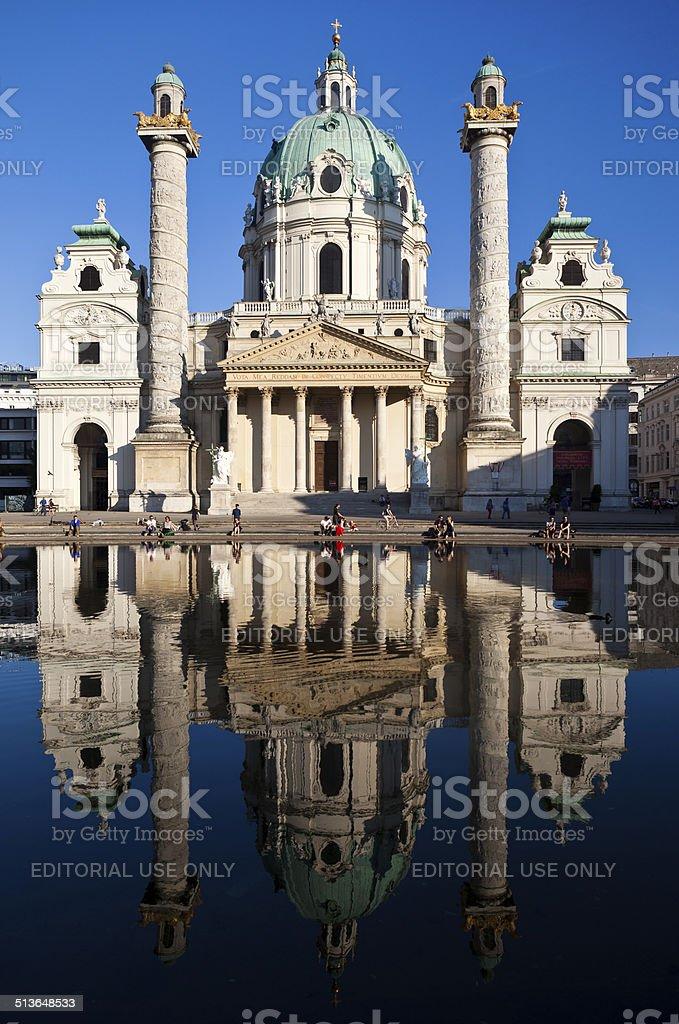 Karlskirche In Vienna, Austria stock photo