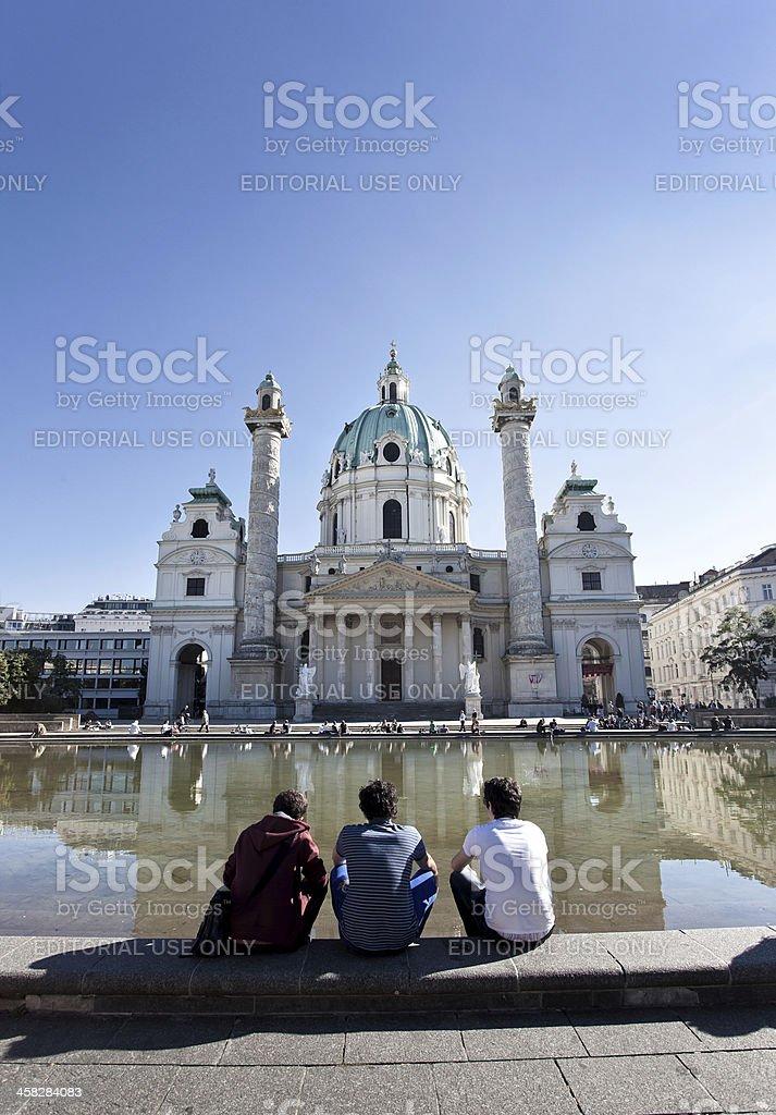 Karlskirche en Viena foto de stock libre de derechos