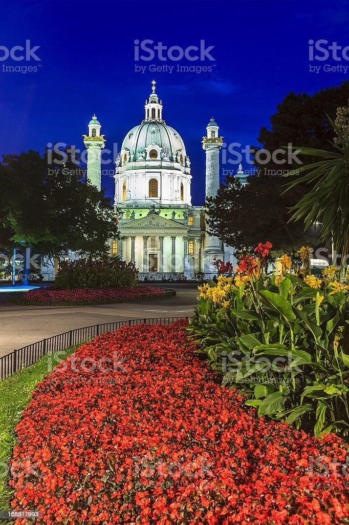 Karlskirche, St. Charles' Church, Vienna stock photo