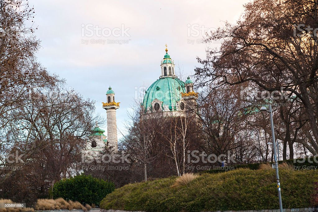Karlskirche - St. Charles's Church stock photo