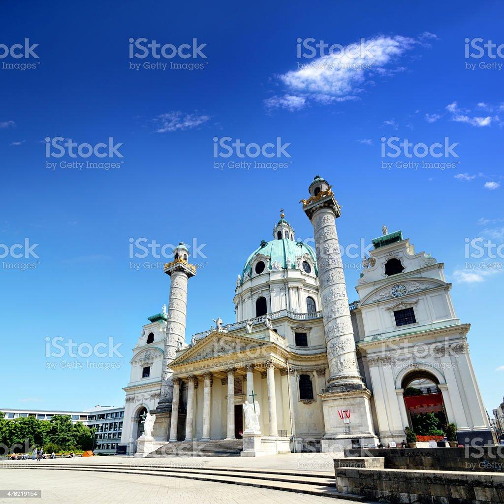 Karlskirche, Vienna stock photo