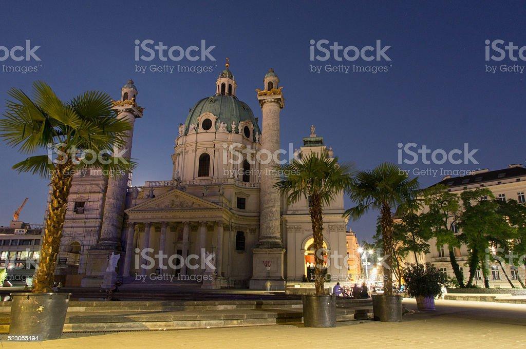 Karlskirche Vienna stock photo
