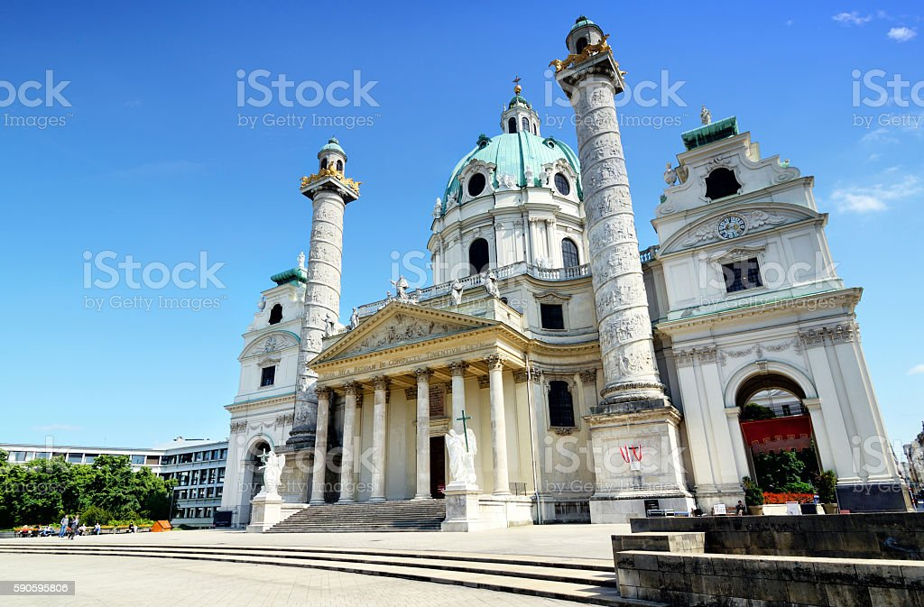 Karlskirche, Vienna stock photo
