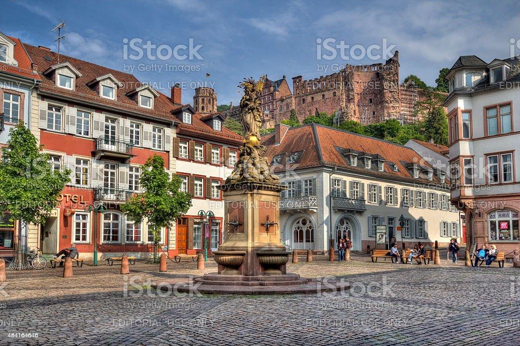 Karlsplatz, Heidelberg, Germany stock photo
