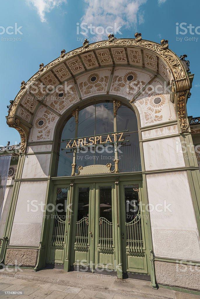 Karlsplatz pavillion in Vienna royalty-free stock photo