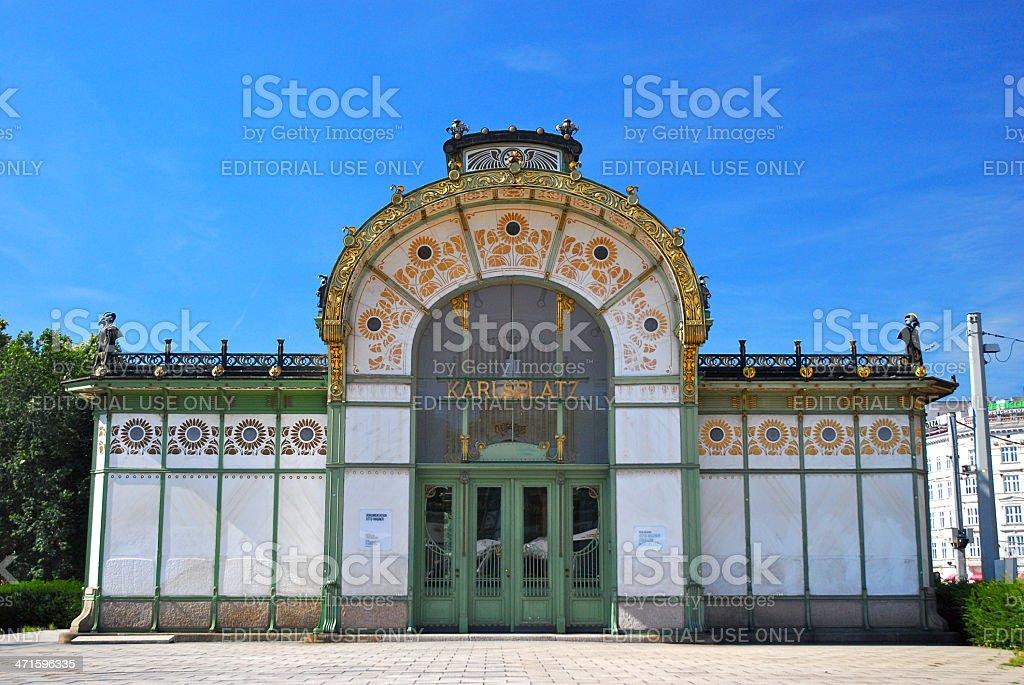 Karlsplatz Stadtbahn Station royalty-free stock photo